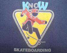 Vintage 80's Thrasher Know Skateboarding Skate Punk Rock Magazine T-Shirt