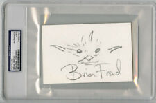 Brian Froud SIGNED 4x6 Original Artwork + Fairy Troll Sketch PSA/DNA AUTOGRAPHED