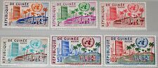GUINEA 1959 31-36 190-93 Admission to UN HQ New York UNO Gebäude NY View MNH