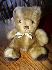 """RUSS BERRIE 8"""" VINTAGE CO PICADILLY BROWN TEDDY BEAR STUFFED ANIMAL PLUSH TOY"""