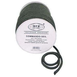 Seil, oliv, 7 mm, 60 Meter Outdoor