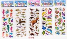 3dx5pcs/Lot Children'S Cartoon Dinosaur Stereoscopic Puffy Stickers Kids Gift A+