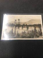 Postcard Kamloops Bridge Raising Railway Rare Rppc B.C.  Early  E01