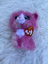 Ty Beanie Boos - Reagan Cat W/hair Stuffed Animal Soft Plush Toy 15cm