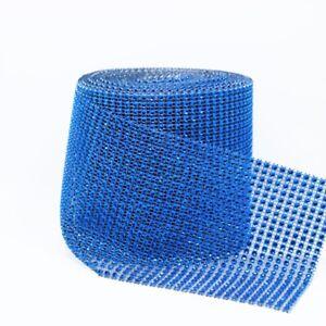 1 Yard Rhinestone Crystal Wrap Mesh Roll Diamond Tape Wedding Table Decor DIY