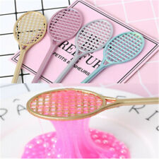 19.5cm DIY Mini PVC Badminton Racket, For Kid Fluffy Slime Form Crystal Soil Kit