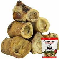 Premium 3 Inch USA Beef Marrow Dog Bone, Long Lasting Meaty Chew Treat for Dogs