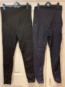 2x Maternity Trousers H&M Mama Slim 14