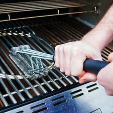 Upgraded BBQ Grill Brush Cleaner Tools Cleaning 3 sides Stainless Steel Bristle