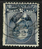 "SC #216 ""1889"" Year Date Fancy Cancel Garfield 1888 Banknote 5 Cent US 62b47"