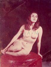 Original Vintage 1940s-60s Nude Color RP- Detroit- Artistic- Woman Sitting