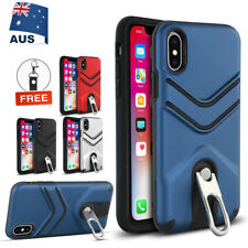 Hybrid Shockproof Case With Flip Stand Heavy Duty Cover For iPhone X 8 7 Plus