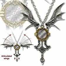 Alchemy Gothic Icarus Ex Machina Winged Pendant Necklace Steampunk Cosplay P556