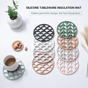 Silicone Trivet Mats Hot Pot Holder Non-slip Heat Resistant Trivets Mat Kitchen