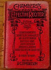 V.RARE-CHAMBERS'S EFFECTIVE RECITER-R C H MORISON-1905-HARDBACK BOOK