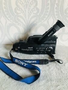 Vintage SONY CCD-FX300E 8mm Video Camera Camcorder Battery or Mains 90s