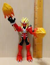 2002 Digimon Agunimon Figure WITH FLAME! RARE! Bandai