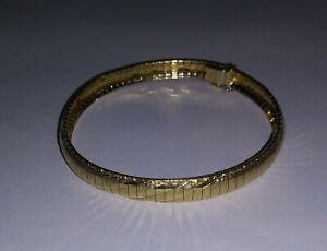 14K SOLID GOLD DOMED OMEGA BRACELET PRE-OWNED 15 GRAMS VINTAGE AURAFIN