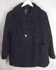 New Style & Co Coat 24W Double Breast Black Soft