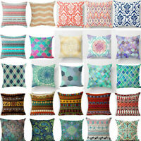 18'' Bohemian Geometric Pattern Linen Pillow Case Cushion Cover Home Decor