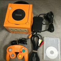 Nintendo GameCube Spice Orange Console Controller gameboy player set (NTSC-J)911