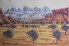 "ARNULF EBATARINJA HERMANNSBURG WC ""CENTRAL AUSTRALIAN LANDSCAPE"" C 1970"