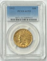 1912-P $10 Indian Gold Eagle PCGS AU53 Nice Coin For The Money PQ++