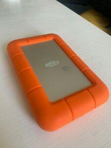 LaCie LAC9000298 Rugged Mini 2TB External Hard Drive - Orange
