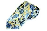 Lord R Colton Studio Tie - Gold & Blue Paisley Woven Necktie - $95 Retail New