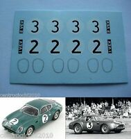 DECALS KIT 1/43 Aston Martin DB4 Zagato, Le Mans 1961 N.2-3 1