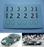 DECALS KIT 1/43 Aston Martin DB4 Zagato, Le Mans 1961 N.2-3 1
