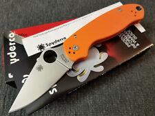 Spyderco Para 3 CTS-XHP Orange G-10 C223GPOR EXCLUSIVE (Paramilitary 3)