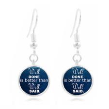 Procrastination glass Frea Earrings Art Photo Tibet silver Earring Jewelry #446