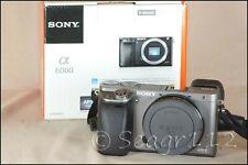 Sony Alpha A6000 24.3MP Digital Camera - Gray/Graphite (Body Only) - Low Clicks