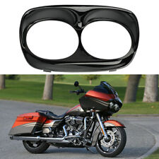 Motorcycle Black Front Headlight Bezel Scowl Outer Fairing Cover for Harley USA