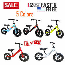 "12"" Children's Balance Bike No-Pedal Learn to Ride Pre Running Bicycle Kids Gift"
