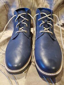 Cole Haan Nathan Chukka C30078 Mens Blue Nubuck Lace Up Chukkas Boots Sz 13