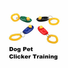 Dog Pet Click Clicker Training Trainer Toy Aid Guide Wrist Band Accessories Set