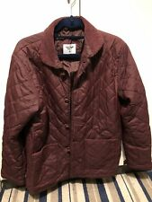 Cedarwood State Primark Quilted Jacket Red Burgundy