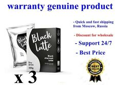 3 boxes Black Latte Black Charcoal Latte 100g For weight control. Lose weight