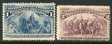 US 1c & 2c COLUMBIANS UNUSED 230-31
