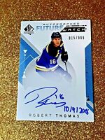 2018-19 Robert Thomas SP AUTHENTIC Future Watch Autograph Inscribed Rookie Auto