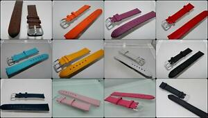 18mm Tony Genuine Leather watch straps,Steel Buckle,Two keepers,Stitched,Colours