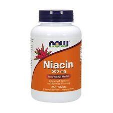 Vitamin B-3, Niacin, 500mg x 250Tabs, Now Foods, 24Hr Dispatch