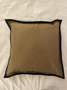 Ralph Lauren Rodeo Drive Tan Solid Full XL Bed Skirt W 2 Matching 18x18 Pillows