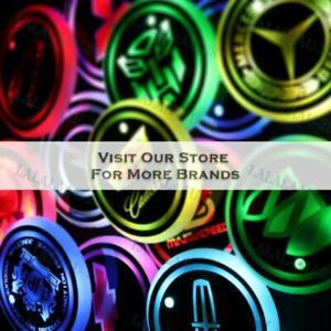 2PCS Car Logo Switchable 7 Color LED Cup Holder Mat Coaster Pad New for All cars