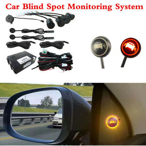 Universal Car Blind Spot Monitoring Detection System 4 Ultrasonic Sensor Kit