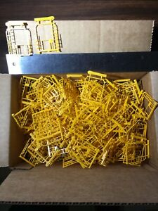 HO Scale Box of Yellow Train Car Parts New Old Stock NOS $1 Lot #127