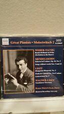 BENNO MOISEIWITSCH Great Pianists Weber-Tausig/Liszt/Mendelssohn CD 2001 Naxos