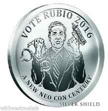 2016 1OZ Vote Rubio Proof Oligarchy - Silver Shield *IN-HAND* SBSS .999 Pure